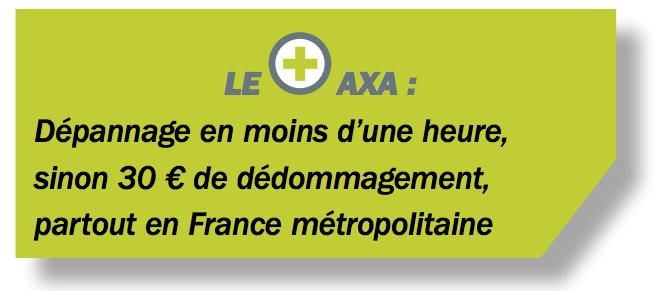 Assistance AXA dépannage en moins d'une heure