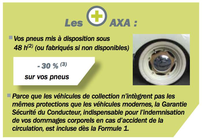 Véhicules de collection avantages pneus