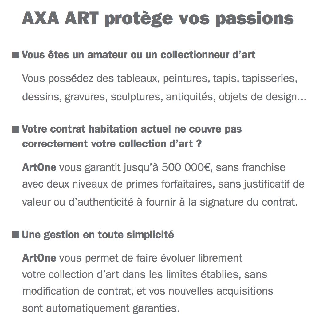 Axa Pour Assurance D'artAssurances Amateur Et Art Collectionneur FK5TuJcl13